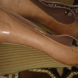 стильні коричневі босоніжки шкіра р38 Et Vous