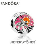Оригинал Pandora Пандора шарм бусина Закат в раю арт. 792116ENMX