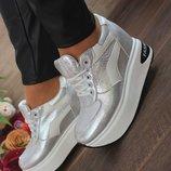 Модные высокие кроссовки silver-fashion