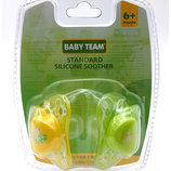 Пустышка силиконовая классическая Baby Team симметричная овальная 6