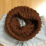 Теплый фирменный шарф-хомут Esprit,теплый вязаный шарфик подарок