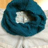 Теплый фирменный шарф-хомут H&M,теплый вязаный шарфик подарок
