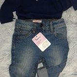 Новые с биркой, крутые джинсы Denim girls, размер 78/80 10-12 месяцев .