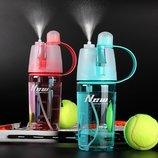 Спортивная бутылка для воды с распылителем-Push New B