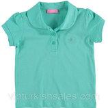 Голубая футболка для девочки LC Waikiki / Лс Вайкики с двумя пуговицами на груди