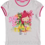 Белая футболка для девочки LC Waikiki / Лс Вайкики с надписью Sun Set