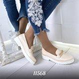 Женские туфли с цепочкой