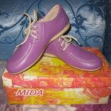 Туфли кожа размер 34, новые, мida