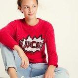 Свитерок травка с пайетками для девочек от Marks & Spencer