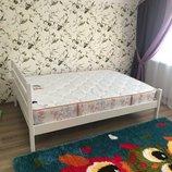 Двухспальная Кровать Элвика нат. дерево 140 200 Белая