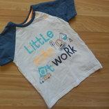 Фирменная футболка George малышу 1-1,5 года состояние нового