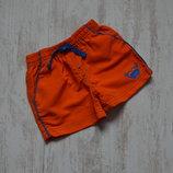 Оранжевые шорты с крабом на 9-12 мес