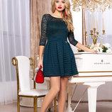 Изысканное платье с широким втачным поясом 44-48р