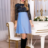НарядноеМолодежное платье с завышенной линией талии 44-54р