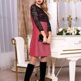 ПривлекательноеМолодежное платье с завышенной линией талии 44-54р