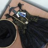 карнавальное платье 5-6 л костюм новое с бирками хелооуин паук F&F