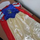 карнавальный костюм платье 8 л белоснежка шлейф Disney Дисней белоснежка принцесса