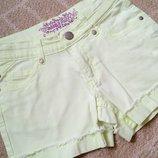 Лимонные неоновые шорты шортики Charles Voegele на 9 лет рост 134 см