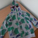 Батник детский 152 см Teen Club спортивная кофта одежда для спорта физкультуры с капюшоном на молнии