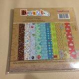 Набор бумаги Басик 15х15 см 24 листа ScrapBerry's