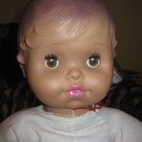 кукла пупс Ссср 65 см. рельефныке волосы