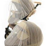 Москитная сетка универсальная, большая на коляску, кроватку. Цвет белый, серый, черный