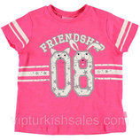 розовая футболка для девочки LC Waikiki / Лс Вайкики с надписью 08