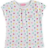 футболка для девочки белая LC Waikiki / Лс Вайкики в звезды и сердце