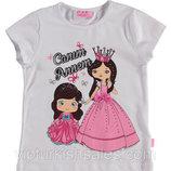 футболка для девочки белая LC Waikiki / Лс Вайкики с двумя принцессами