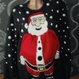 новогодний 3 Д свитер с сантой