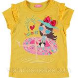 футболка для девочки желтая LC Waikiki / Лс Вайкики с девочкой на кругу