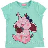 футболка для девочки голубая LC Waikiki / Лс Вайкики со слоником на груди