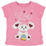 футболка для девочки розовая LC Waikiki / Лс Вайкики с овечкой на груди