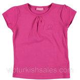 футболка для девочки розовая LC Waikiki / Лс Вайкики с логотипом на груди