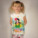 футболка для девочки белая LC Waikiki / Лс Вайкики с тропической принцессой