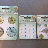 Набор декоративных элементов Часы Сказка про Фей, 4 шт Scrapberry's