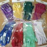 нарядные детские перчатки с пальчиками
