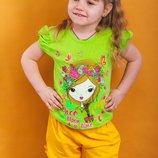 Яркие желтые шорты для девочки