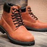 Мужские зимние ботинки Timberland. Кожа мех натуральный