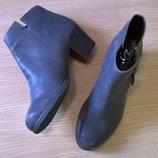удобные кожаные ботильоны 41 р. 26,5 см., Zign, стиль винтаж, непревзойденное немецкое качество