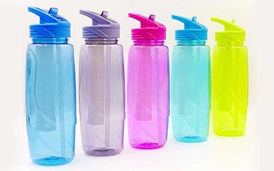 Бутылка для воды спортивная с камерой для льда 6436 5 цветов, объем 750мл