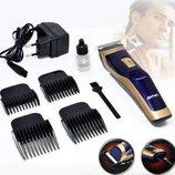 Аккумуляторная машинка для стрижки волос Gemei