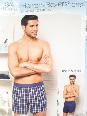 Трусы боксеры-шорты 100% хлопок.2 шт в 1 уп. Watson's.Германия.р.S/4