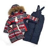 Зимний комплект тройка р.86-98 куртка жилетка полукомбинезон Зима
