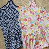 Комплект 2в1 набор сарафан платье туника H&M на 6-9 мес