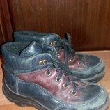 Детские демисезонные кожаные ботинки р.27 17,5см б/у
