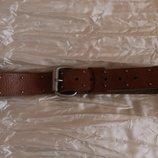 Ремень пояс кожаный коричневый Burton р-р M