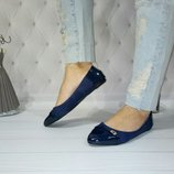 Женские синие балетки