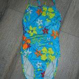 Италия Яркий голубой купальник для плавания 158 см новый