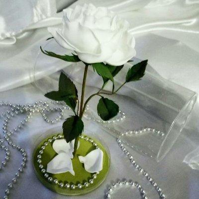 Подарок девушке Роза ручной работы